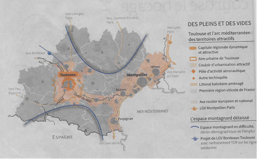 CARTE 2 : Des pleins et des vides Source : cahier spécial Le Monde – Décembre 2015