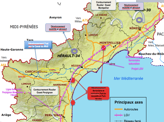 CARTE 1 : état des lieux et projection de la mobilité 2015-2020 Source : Carte Régional des Transports 2015-2020